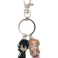 Sword Art Online Kirito & Asuna Metal Key Chain