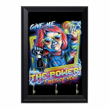 Give Me The Power Decorative Wall Plaque Key Holder Hanger
