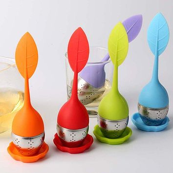 Tea tool Interesting Kitchen Tools Cute Mr Teapot Tea Infuser/Tea Strainer/Coffee & Tea Silicone Sets Hot