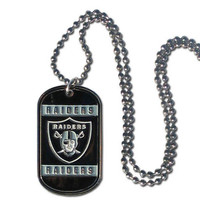 Oakland Raiders Tag Necklace FTN125