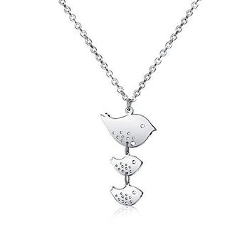 Family Bird Necklace - Three Birds Family Inspired Necklaces For Women