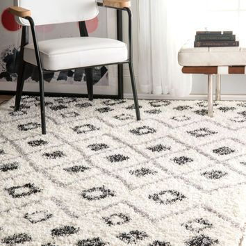 nuLOOM Cicely Shaggy Grey Area Area Rug