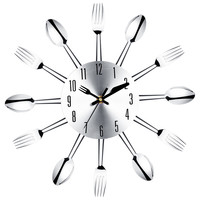 Unbelievable! High Quality Large Wall Clock Stainless Steel Kitchen Wall Watch Quality Quartz Needle 3D Clock Home Decor