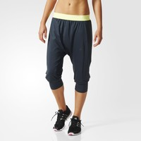 adidas Workout Three-Quarter Pants - Blue | adidas UK