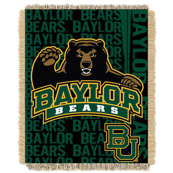 Baylor College 48x60 Triple Woven Jacquard Throw - Double Play Series