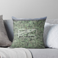 'The Big Bag of Weed pillow' Throw Pillow by kushcoast