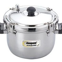 Anupam Stainless Steel Rice Pot is made from very high quality stainless steel raw material which ensures high durability at its user end.