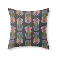 Society6 Pineapple Expres Throw Pillow