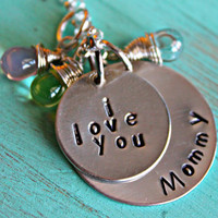 Hand Stamped Mother Jewelry, Mommy Necklace, Mother Necklace, Mom Jewelry, Grandma Necklace, Grandmother Necklace