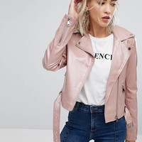 Urban Bliss Patent Biker Jacket at asos.com