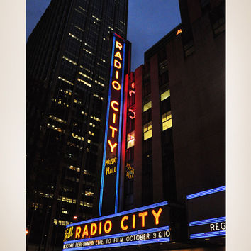 Wall Mural Decal Sticker Radio City Hall New York #MMartin114