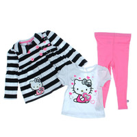Hello Kitty Embroidered Baby Girls Pea Coat