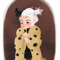 Disney Little Villain - Cruella Art Print by Vivianne Du Bois