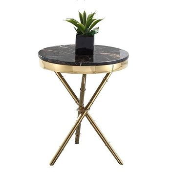 Gold Plated X-Shaped Round Table