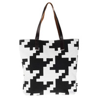 Fab: Houndstooth Tote, at 60% off!