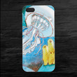 Jellyfish Drawing Illustrated iPhone 4 and 5 Case