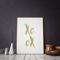 Xoxo Gold Foil,Xoxo Print,Love Sign,Girls Bedroom Decor,Nursery Girls,Love Quote,GOSSIP GIRL,XOXO,Gift For Her,Girly Print,Girls Room Decor
