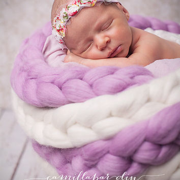 Six-foot (1.83 meter) Merino Wool Braids for Photo Props, Newborn Photography, or Spinning