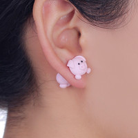 2017 New Design 100% Handmade Lovely Pig Stud Earring Fashion Jewelry Polymer Clay Cartoon 3D Animal Earrings For Women Gift