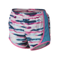 Nike Tempo Allover Print Girls' Running Shorts Size Medium (Blue)