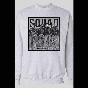 HORROR MOVIE KILLER SQUAD MYERS, JASON, LEATHERFACE, AND FREDDY WINTER PULL OVER SWEATSHIRT