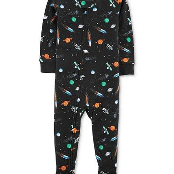 Carter's Baby Boys Space-Print Cotton Footed Pajamas Kids - Pajamas - Macy's