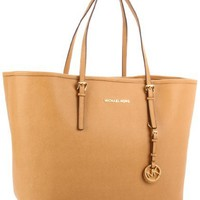 MICHAEL Michael Kors Jet Set Travel Tote,Tan,One Size
