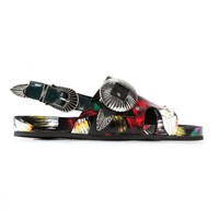 TOGA ARCHIVES - Brushed Leather Sandals - AJ699 BRUSH PRINT - H. Lorenzo