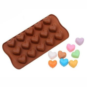 LMFLD1 1Pcs Silicone Heart Shape Chocolate Mold Christmas Fondant Cake Pan Baking Mould Bakery Pastry Cake Tools Kitchen Accessories