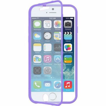 For Apple iPhone 6s / 6 Case, Built-in Screen Protector Easy Grip Full Body Armor Case for Iphone 6S/6 - Purple