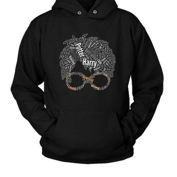 DCCK7H3 Harry Potter Typography Hoodie Two Sided
