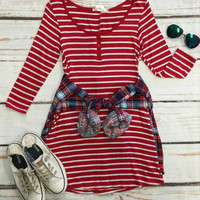 On My Mind Tunic: Red