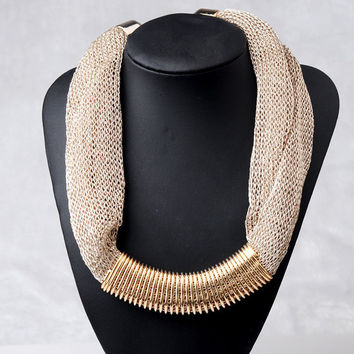 Big Chunky Silk Chain Necklace