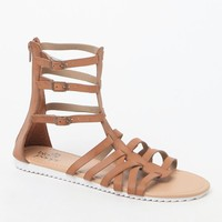 Black Poppy Gladiator Sandals - Womens Sandals