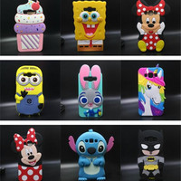 3D Cute Lips Soft Silicone Mobile Phone Bags Case Cover For Samsung Galaxy A5 E5 J5 J500 A500 E500