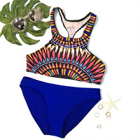 Cupshe Wake Up Exotic Printing Bikini Set