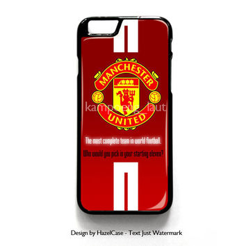 Manchester United Logo for iPhone 4 4S 5 5S 5C 6 6 Plus , iPod Touch 4 5  , Samsung Galaxy S3 S4 S5 Note 3 Note 4 , and HTC One X M7 M8 Case Cover