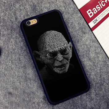 LORD OF THE RINGS Gollum Printed Soft TPU Skin Mobile Phone Cases For iPhone 6 6S Plus 7 7 Plus 5 5S 5C SE 4 4S Back Cover Shell