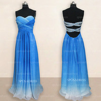 Sexy prom dresses, long prom dresses, gradient prom dresses, prom dresses 2014, dresses for prom, cheap prom dresses, evening dresses, RE325