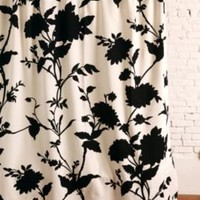 UrbanOutfitters.com > Silhouette Flower Shower Curtain