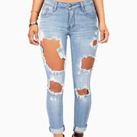 Cut it Out Skinny Jeans