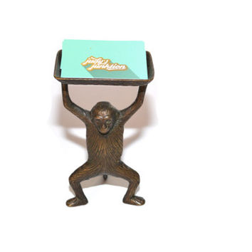 Monkey Dish Monkey Tray Monkey Business Card Holder Monkey Soap Dish Monkey Butler Brass Monkey Monkey Statue Monkey Figurine