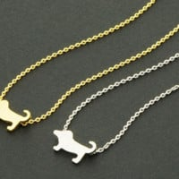 Dachshund Wiener Dog Charm Necklace