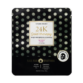 [ETUDE HOUSE] 24K Gold Therapy Black Pearl Mask Brightening