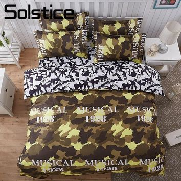 Solstice Home Textile Camouflage Pattern Bedding Sets Boy Teen Kids Bedlinen King Twin Size Bed Sheet Pillow Case Duvet Cover
