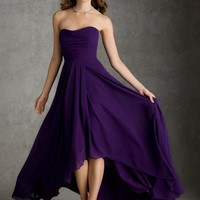 Morilee Bridesmaids 694 Strapless High Low Chiffon Dress