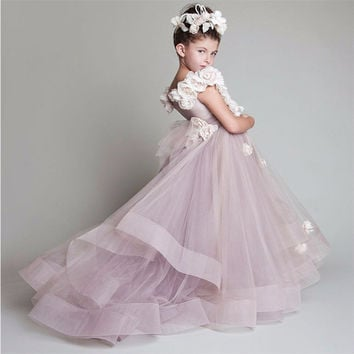 Gorgeous Pink Glitz Pageant Dresses Mother Daughter Gowns Flower Girl Dresses For Wedding Kids Evening Dress Custom Made