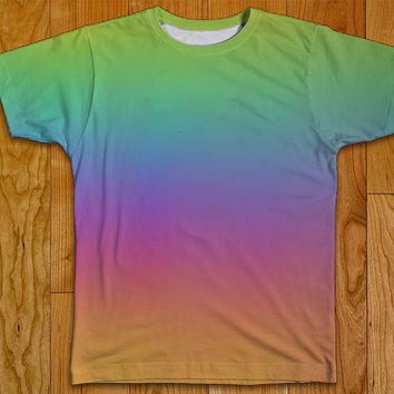 Rainbow Pride Tshirt Two Sided Clothing Adult Sizes S-XL