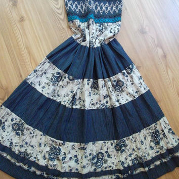 Handmade  -  Maxi Skirt - Dress........Blue