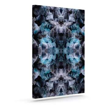 "Akwaflorell ""Abyss"" Blue Black Outdoor Canvas Wall Art"